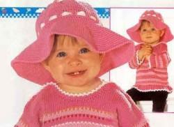 Детская шляпа вязаная крючком