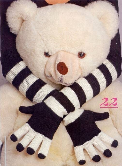 Черно-белые перчатки