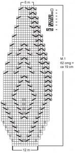Беретка с ажурным узором схема вязания