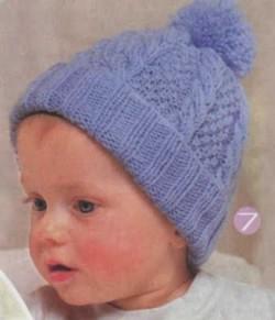 Вязаная шапочка малышу