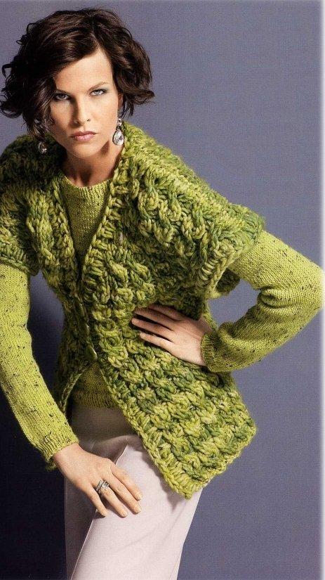 Зеленый жакет и жилет