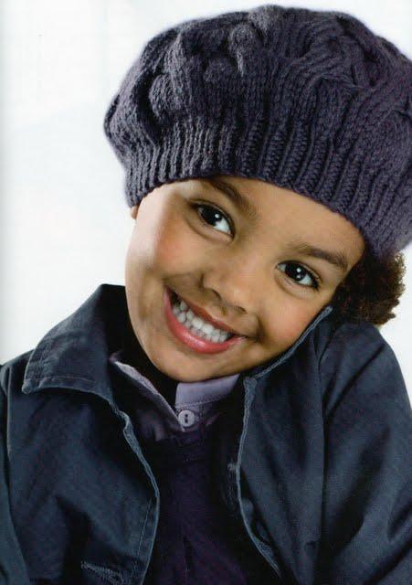 Детская панамка вязаная спицами