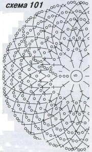 Комплект (шапочка и перчатки) схема