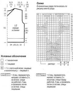 Белая безрукавка схема и выкройка вязания