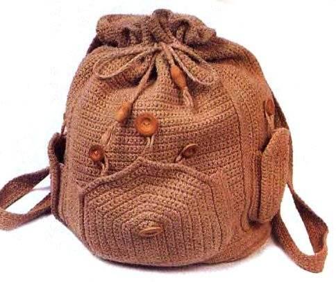 Красивый рюкзак вязаный крючком
