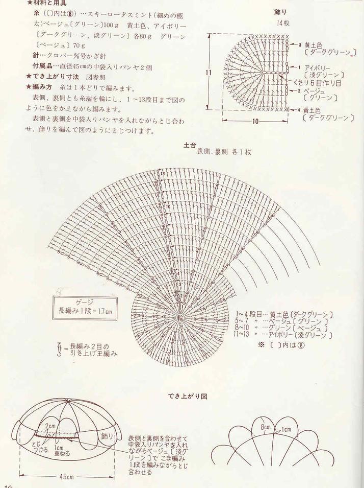 схема вязания падушки