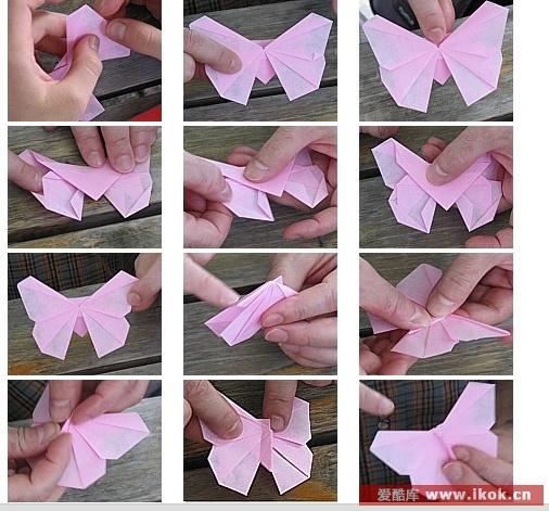 Красивая розовая Бабочка мастер - класс 2