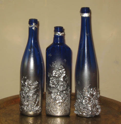 Декор бутылок кожей пошаговый мастер класс