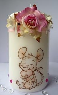 Декор свечей штампами