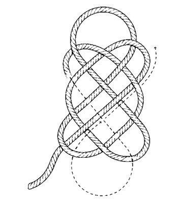 Плетение коврика этап 4
