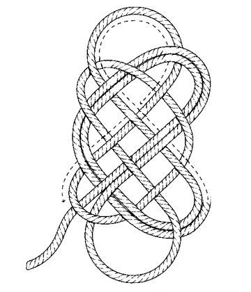 Плетение коврика этап 5
