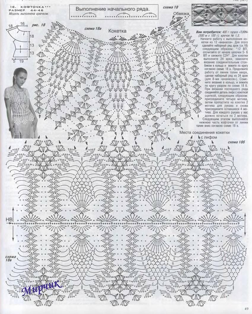 Схемы вязания блузок - Все о моде