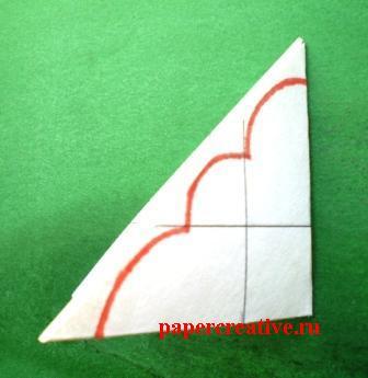 складывание бумажного квадрата-выкройки
