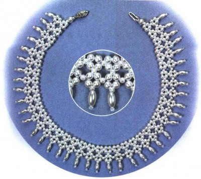 Ожерелье анастасия из бисера