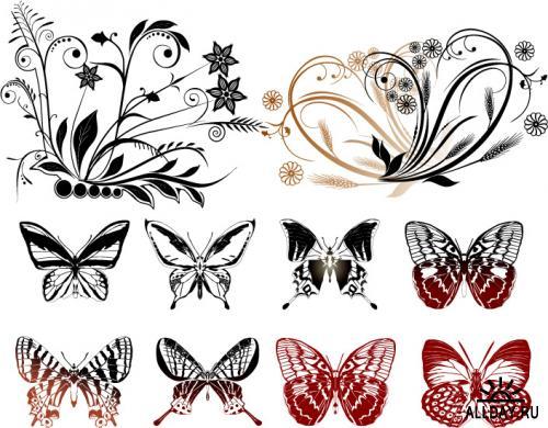Делаем бабочек в технике пергамано.