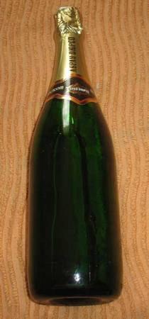 Свадебная бутылка декупаж