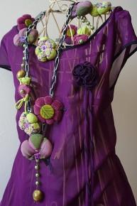 Текстильная бижутерия. Идеи