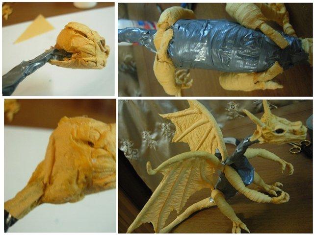 Как сделать дракона из папье-маше для начинающих