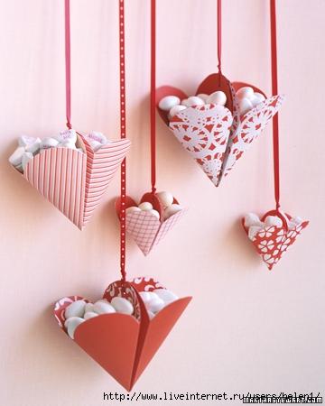 Романтичные коробочки-сердечки