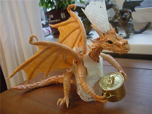 Как сделать дракончика из бумаги