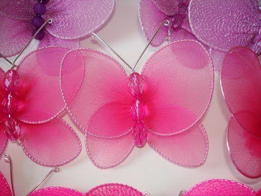бабочки из колготок.