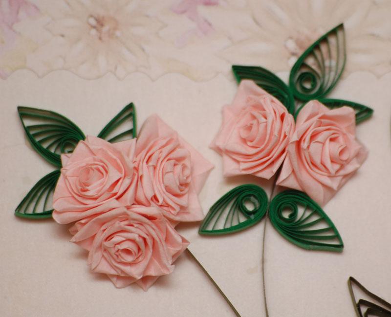Розы на открытки оригами