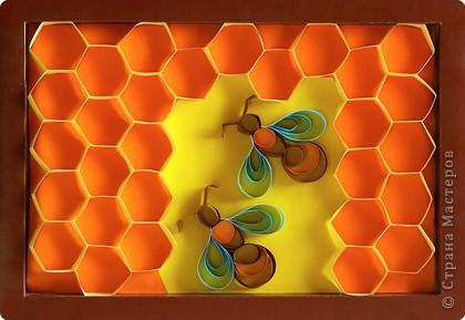 Пчелки на сотах( квиллинг для новичков).