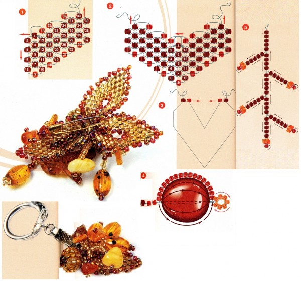Схема плетения змеи из бисера - Вязаная из бисера змея.  Фенечки.  Для получения ссылки на полную версию изображения...