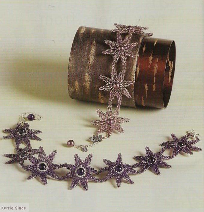 Комплект звездочка из бисера