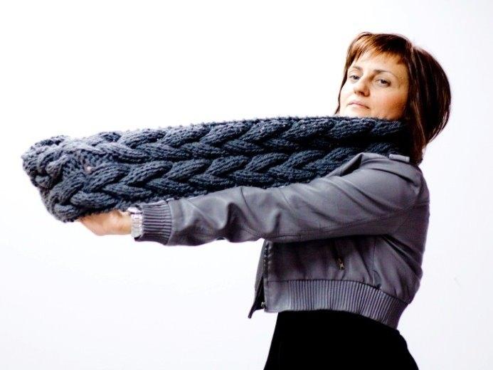 Видео вязания шарфа трубы 7