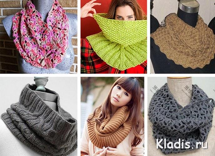 Как сшить снуд из шарфа?