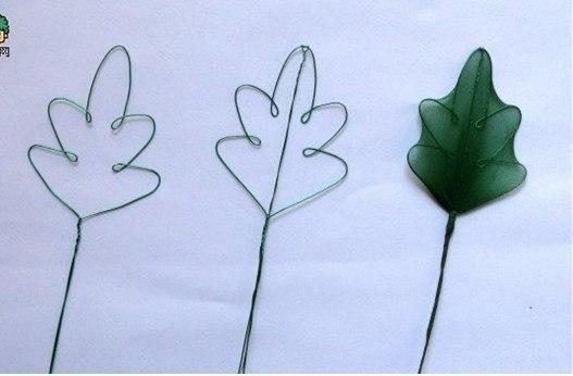 Хризантемы из капрона