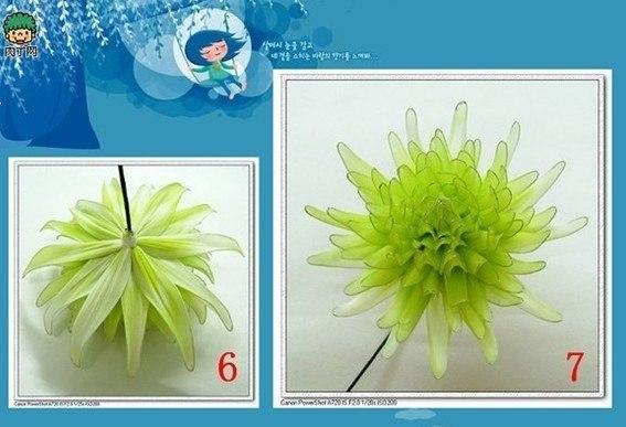 Искусственная цветы хризантемы из капрона