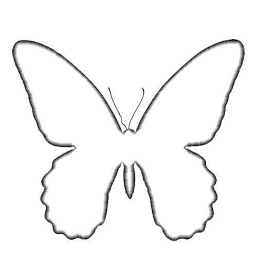 Как сделать трафарет бабочки своими руками видео