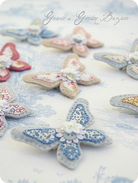 фетровые бабочки