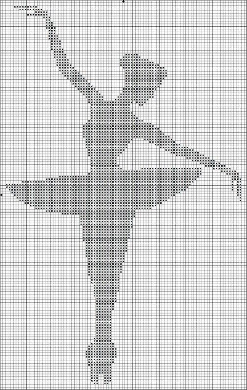 вышитая крестиком балерина