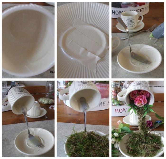Как сделать чашу цветов