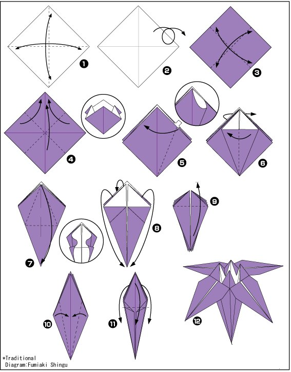 четырехлистник из бумаги