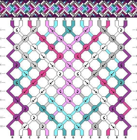 Схема браслета фенечки