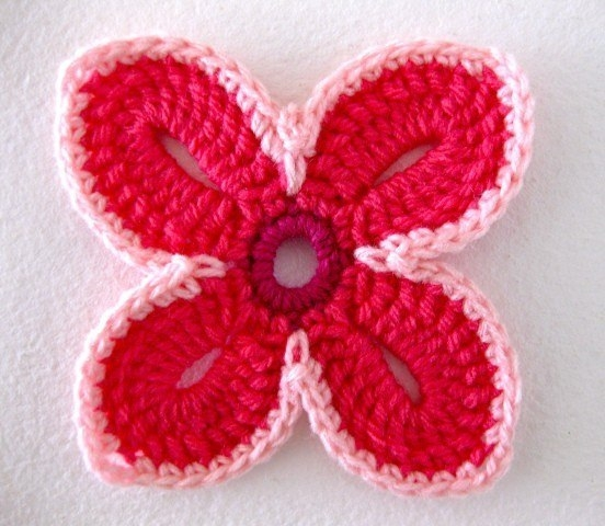 Цветок крючком