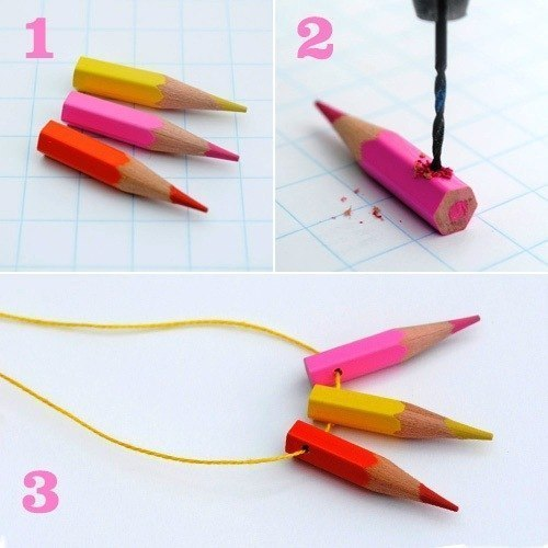 ожерелье из карандашей
