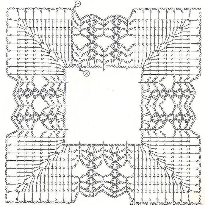 схема квадратного кружева