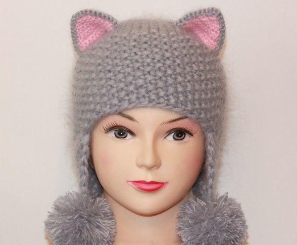 Шапочка -кошка для детей