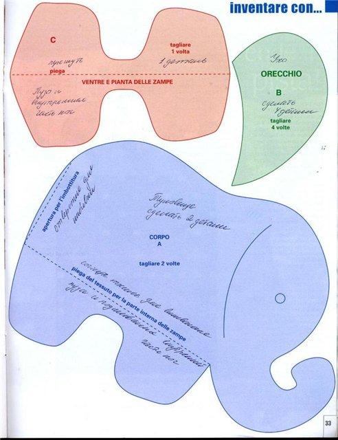 Мягкий слоник игрушка