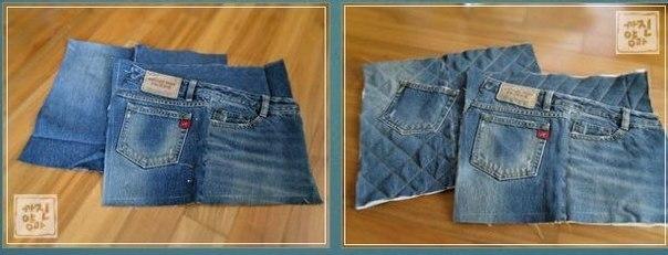 Сумка из джинсовой ткани