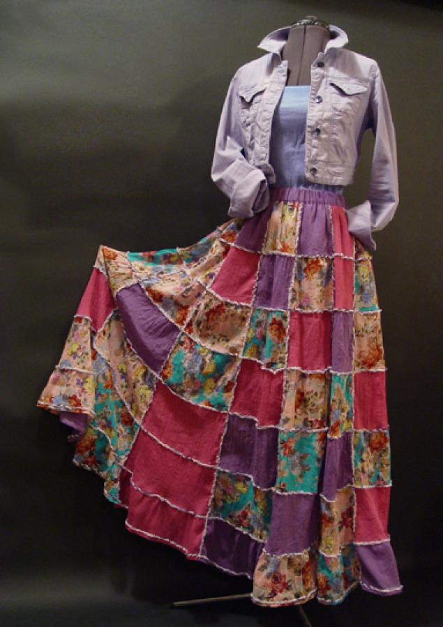 Лоскутная юбка