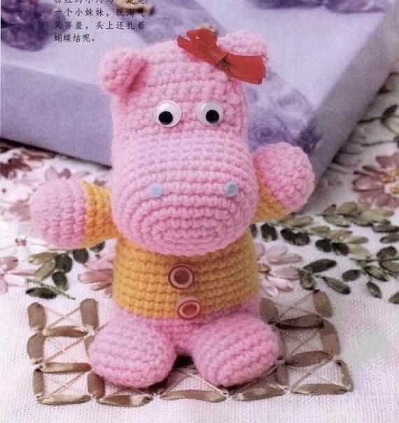 розовый бегемотик