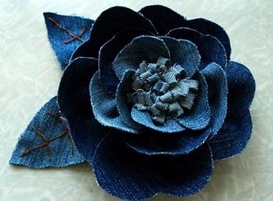 Джинсовая роза