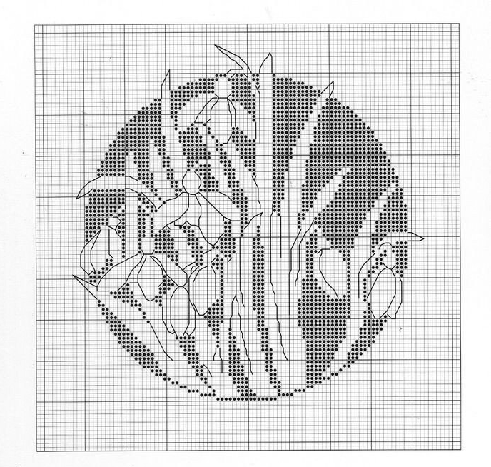 Схема крестиком цветок