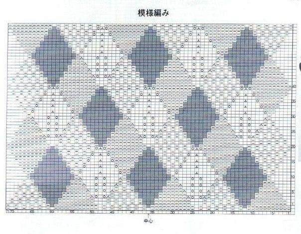 схема узора ромбы